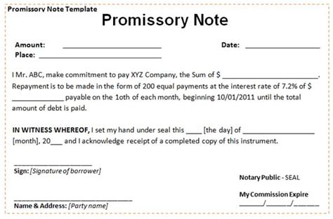 borrowing money contract template sle promissory note template memes