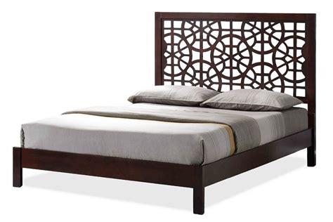 Bed Frame Patterns Baxton Studio Sakuro Circle Pattern Modern And Contemporary Brown Size Wooden