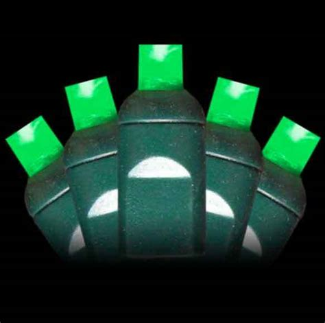 70 green wide angle led lights for christmas decorations