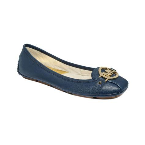 michael kors shoes fulton moc flats michael kors michael fulton moc flats in blue navy