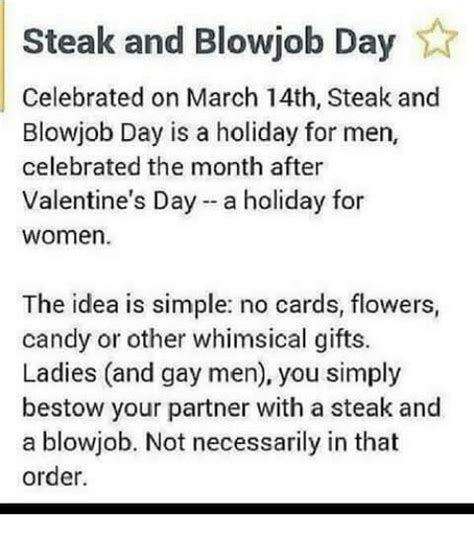 Steak And Bj Meme - 25 best memes about steak and blowjob day steak and