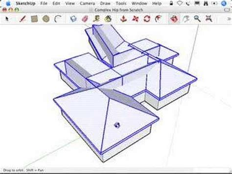 Complex Hip Roof Sketchup Complex Hip Roofs And The Follow Me Tool Xilfy