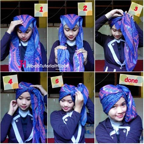 tutorial turban segitiga tutorial hijab turban segi empat simple jilbab tutorial