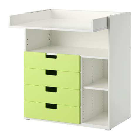 Stuva Changing Table With 4 Drawers White Green Ikea Ikea Change Table