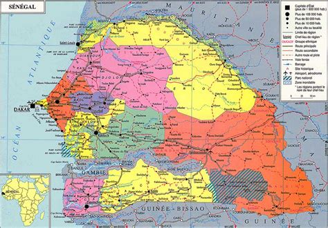 senegal map maps of senegal