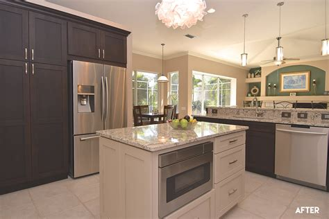 island kitchen cabinet remodel reveal open concept kitchen with endless storage