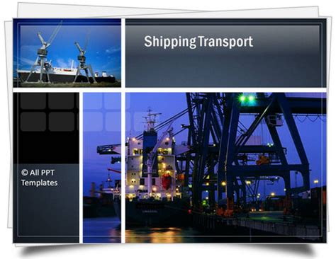 template powerpoint logistics powerpoint logistics template sets