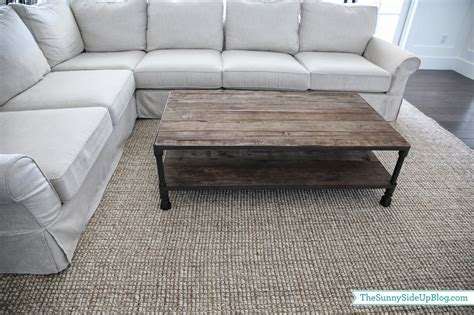 White And Brown Coffee Table Family Room Decor Update The Sunny Side Up Blog