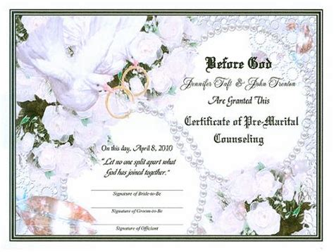 Victorian Doves Herald Upcoming Nuptials Pre Marital Counseling Certificate Free Premarital Counseling Certificate Of Completion Template