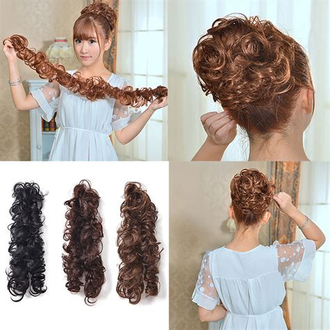 hair pieces for women lady women clip ponytail wavy horsetail curly long