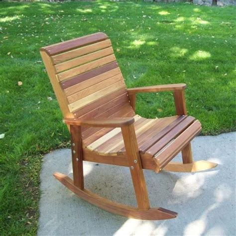 outdoor wooden rocking chair plans  tables pinterest