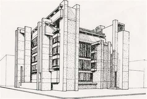 Architecture Drawing Artists Buildings H Leslie Simmons Artist
