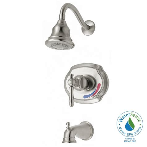 glacier bay lyndhurst bathroom faucet glacier bay lyndhurst watersense tub shower faucet