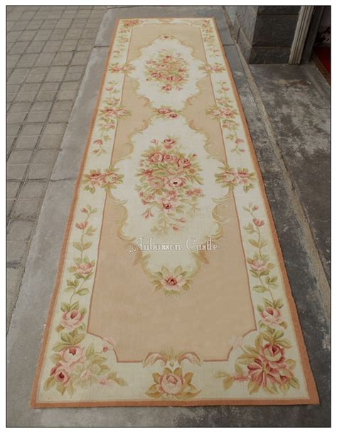 pink aubusson rugs pastel gold ivory aubusson rug pink country style wool carpet ebay