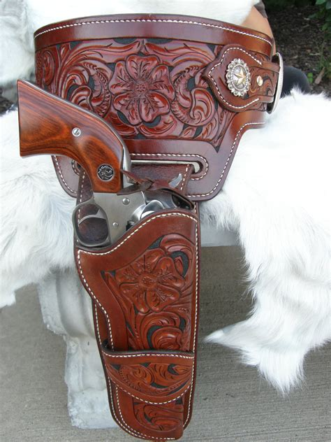 custom tooled leather buscadero gun belt leather holster