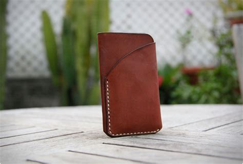 Handmade Leather Cell Phone Cases - iphone 5 leather sleeve cases for cellphone