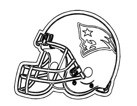 football helmet patriots new england coloring page for