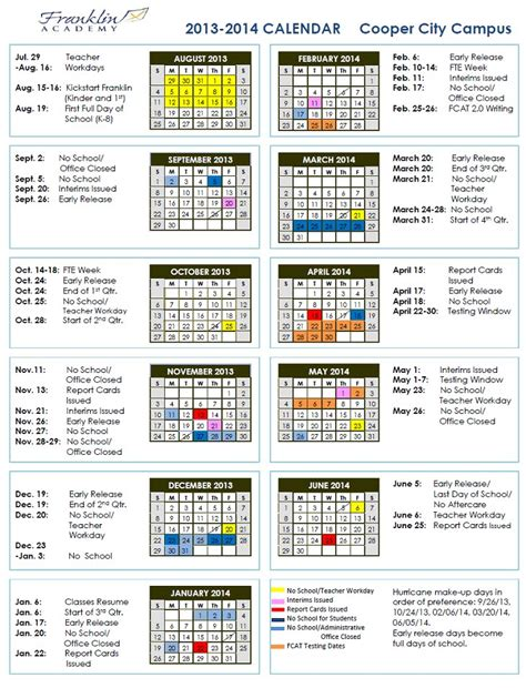 Franklin Academy 2013 2014 School Calendar   msholmpage