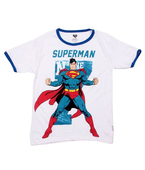 Tshirt Supermen White superman white cottont shirt buy superman white cottont