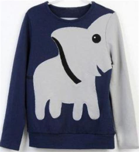 Elephant Sweater sweater jumper clothes elephant animal trunk