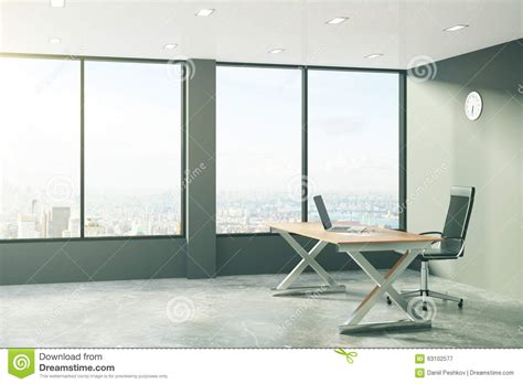 modern loft furniture loft style office with modern furniture and city view