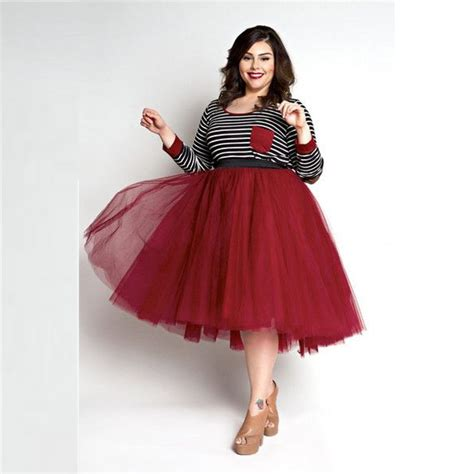 tulle skirt plus size skirts a line knee length