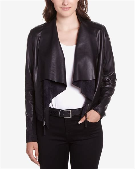 Faux Leather Jacket by Faux Leather Jacket With Detachable Collar Reitmans