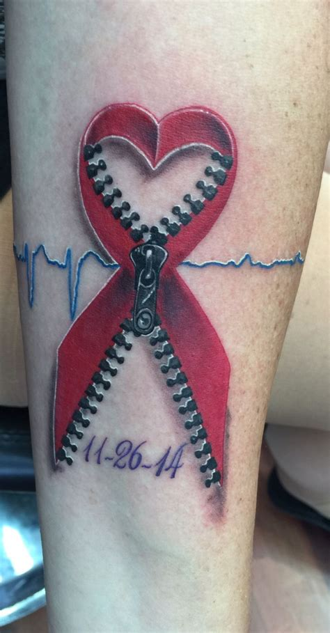 heart surgery tattoo my done 8 5 2015 consists of my dads ekg before