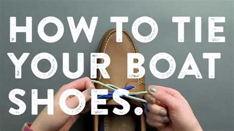 how to make a boat shoe knot top sider tips how to tie your boat shoes youtube