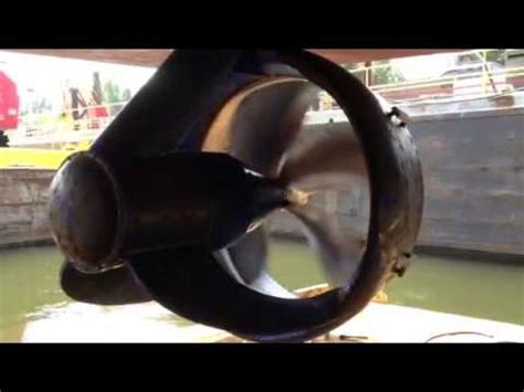 tow boat propulsion z drive tow boat test on dry dock youtube