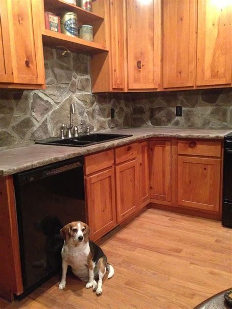 concrete countertop backsplash kitchens