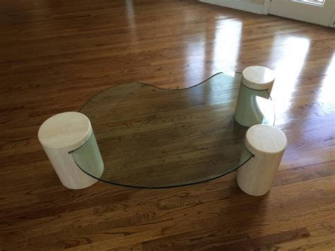 unique glass coffee tables unique glass and marble coffee table by enzo gallo for