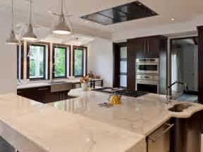 Black Kitchen Island With Stainless Steel Top Marble Kitchen Countertop Options Hgtv
