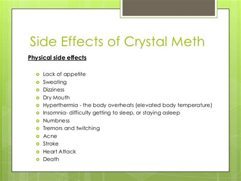 Side Effects Of Detox Medication by Meth Addiction Signs Pictures To Pin On