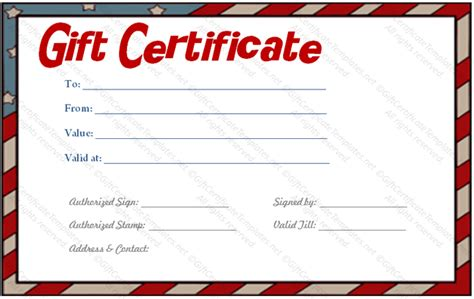 fillable gift certificate