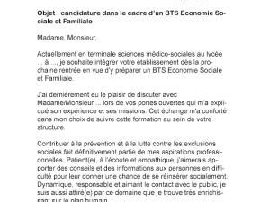 Lettre De Motivation Apb Bts Lettre De Motivation Bts Esf Par Lettreutile