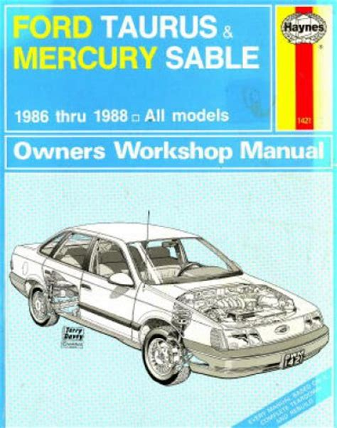 service manuals schematics 1988 mercury sable navigation system ford taurus and mercury sable owners workshop manual 1986 1988