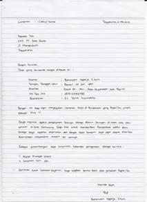 contoh surat lamaran kerja tulis tangan yang baik dan benar