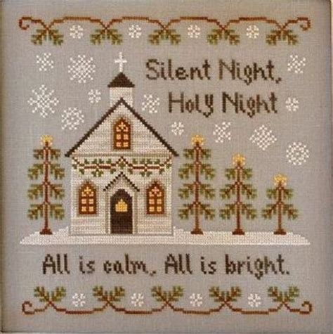country cottage needleworks silent night cross stitch pattern 123stitch com counted cross stitch pattern silent night country