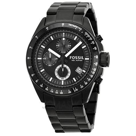 fossil chronograph black ion plated mens ch2601