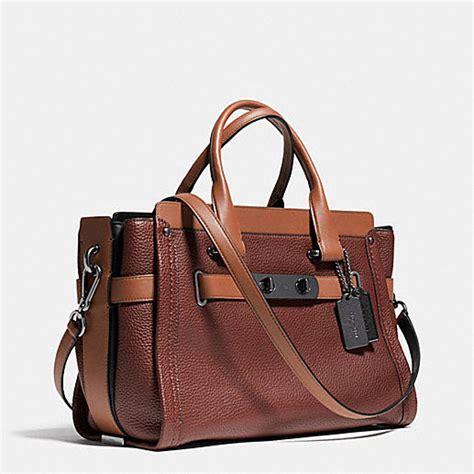 Jual Tas Coach Swagger 27 In Pebble Leather Saddle Original Asli small handbags coach swagger