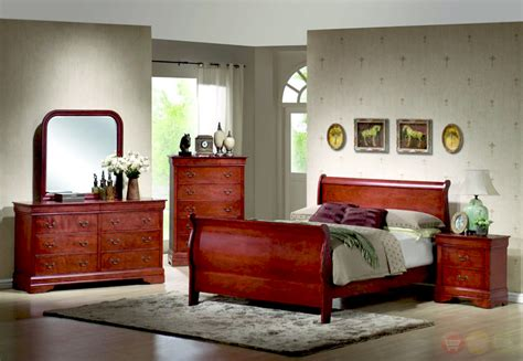 cherry wood sleigh bedroom set bedroom furniture sets queen king