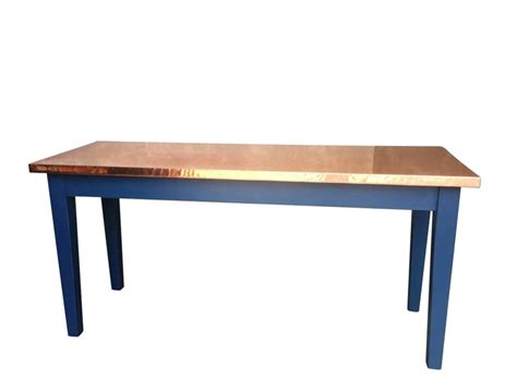 handmade copper top kitchen dining table