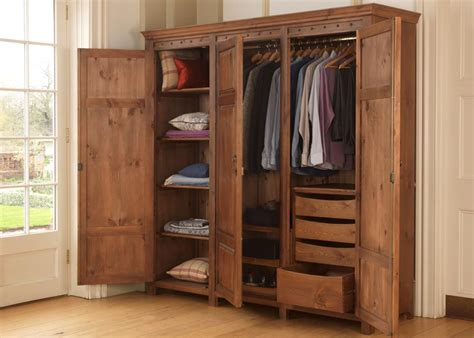 Solid Wood Built In Wardrobes by 3 Door Wardrobe In Solid Wood From Revival Beds