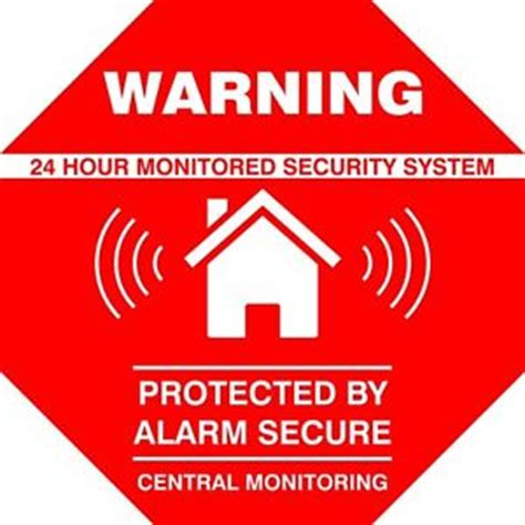 5 authentic home alarm security stickers decals signs