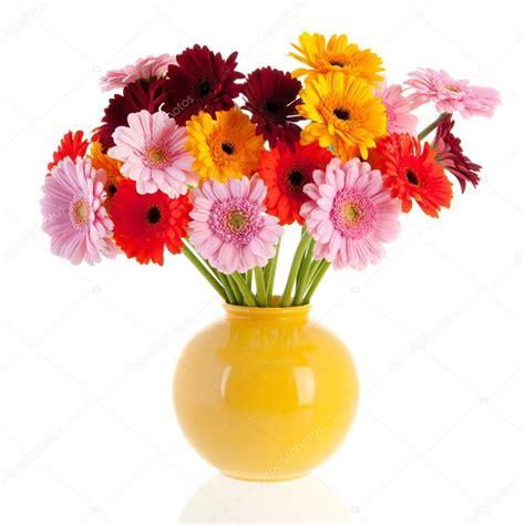 vas is das gerber de bouquet fleurs dans un vase de verre