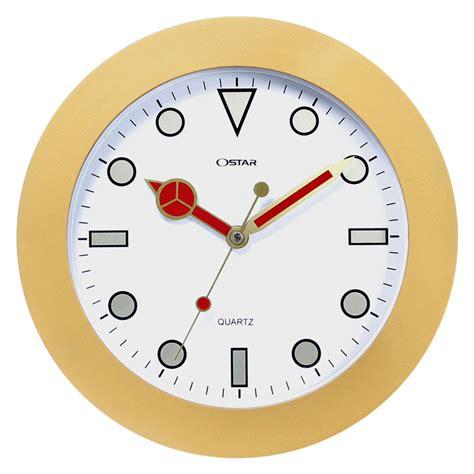 Jam Dinding Ostar Ring Emas Logo Color Mesin Sweep 33cm jam dinding ring emas 33 cm
