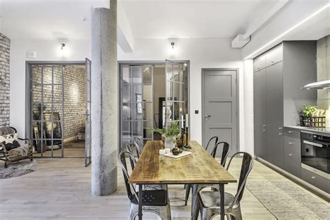 industrial interiors city apartment with an industrial interior design