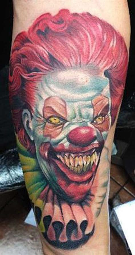 evil clown tattoos 17 best ideas about clown on creepy