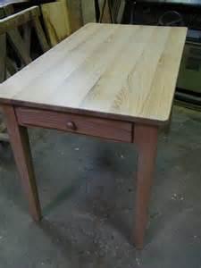 Formidable Renovation Meuble En Bois #2: Fabrication-table-de-cuisine--cerusee.jpg